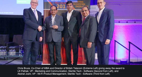 Sterlite Tech wins WBA 2017